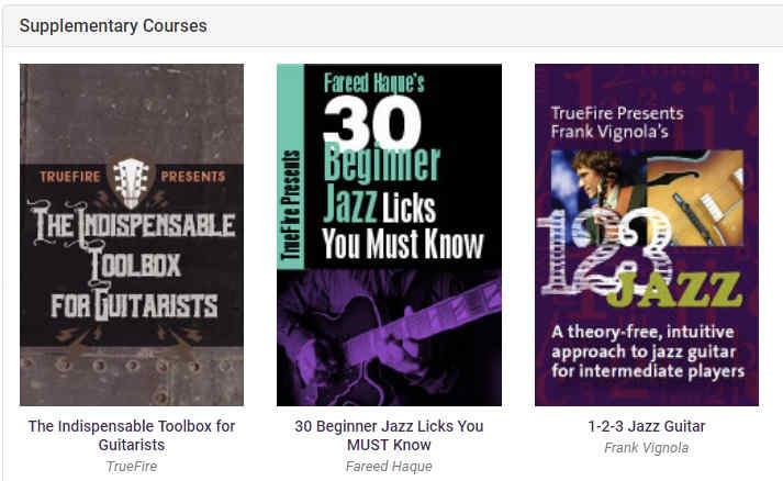 TrueFire Jazz Supplementary Courses